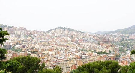 Panoramic of the mountain of Carmelo of Barcelona photo