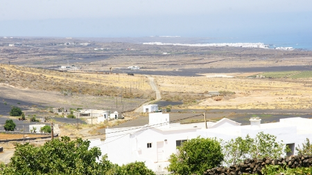 landscape with village , Lanzarote, Canary Islands