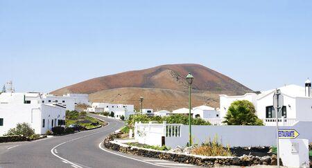 canarias: Vista general de Tahichi, en Lanzarote, Islas Canarias Stock Photo