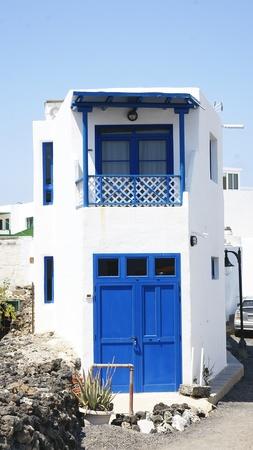 golfo: Building of El Golfo, Lanzarote, Canary Islands Editorial