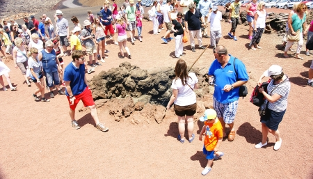 timanfaya: Shows in the Natural Park of Timanfaya, Lanzarote, Canary Islands