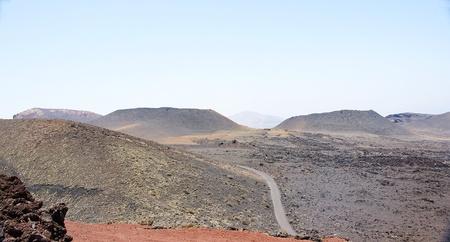 timanfaya: Paisaje Parque Nacional de Timanfaya en Lanzarote, Islas Canarias