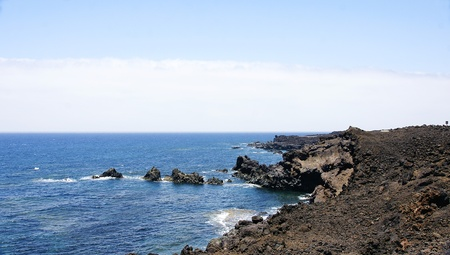 los hervideros: Los Hervideros landscape in Lanzarote, Canary Islands Stock Photo