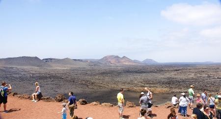 intestinos: paisaje volc�nico del Parque Nacional de Timanfaya, Lanzarote, Islas Canarias
