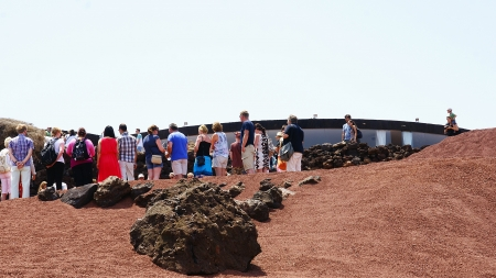 bowels: Shows in the Natural Park of Timanfaya, Lanzarote, Canary Islands