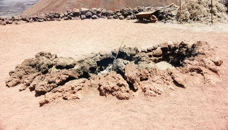 intestinos: Parque Natural de Timanfaya en Lanzarote, Islas Canarias