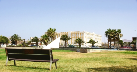 archetype: Panorama of a Arrecife archetype in Cabildo building, Lanzarote, Canary Islands