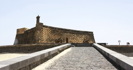 feudalism: Castle of San Gabriel with road, Arrecife, Lanzarote, Canary Islands, Spain