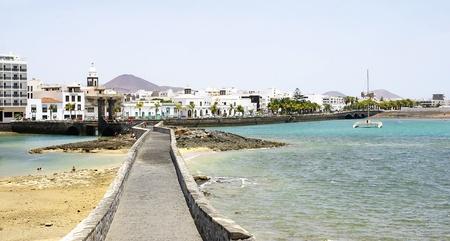 lanzarote: Road Castle San Gabriel in Arrecife, Lanzarote, Canary Islands Editorial