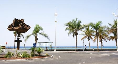 windward: Windward sculpture on a roundabout in Arrecife in Lanzarote, Canary Islands