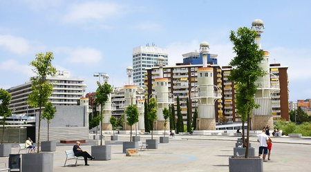 industrial park: Spagna Industrial Park nella Sants di Barcellona