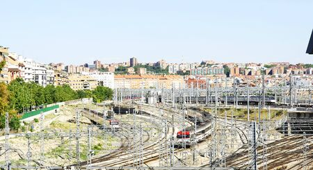 immensely: Track and catenary at the entrance to the station of Atocha in Madrid
