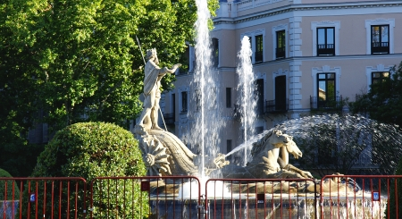 Fountain of Neptune in Madrid photo