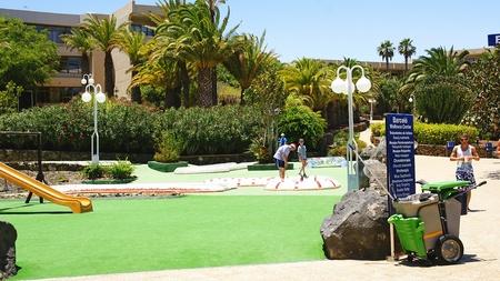 Minigolf in a resort, Lanzarote, Canary Islands