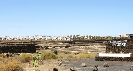 unplanned: Landscape of Coast Teguise with urbanization to the bottom, Lanzarote, Canary Isles Editorial
