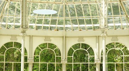 transparencies: Interior Crystal Palace in Madrid s Retiro