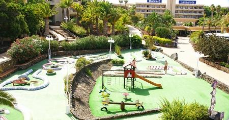 Mini golf at a resort, Lanzarote, Canary Islands