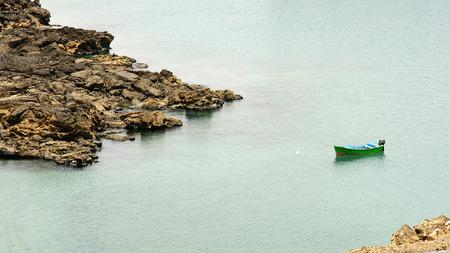 green boat: Green boat on a beach in Arrecife, Lanzarote, Canary Islands