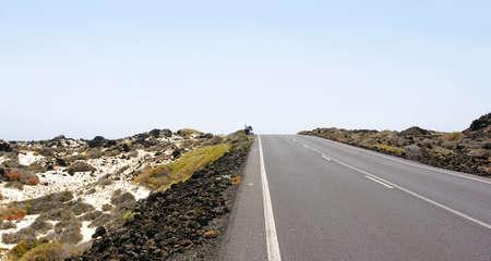 Road in Lanzarote, Islas Canarias Stock Photo - 23700993