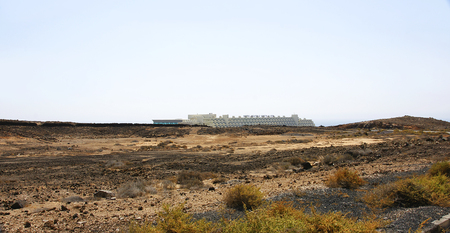 volcanic landscape: Volcanic landscape in Lanzarote, Canary Islands