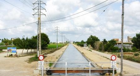 Canal irrigation in the Ebro Delta, Tarragona photo
