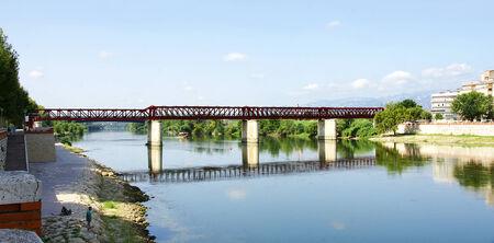 ebro: Ponte di ferro sul fiume Ebro a Tortosa, Tarragona