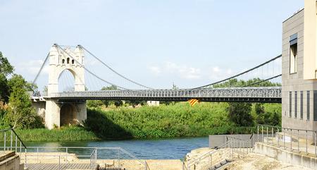 foci: Bridge on the River Ebro in Amposta, Tarragona