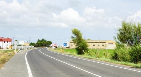 road in the Delta del Ebro Tarragona photo