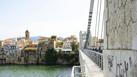 Amposta over the river Ebro, Tarragona