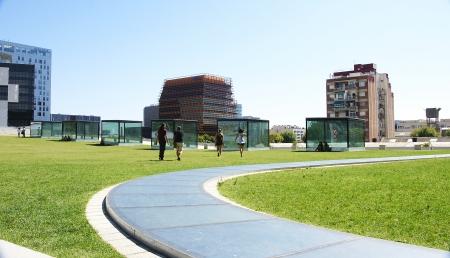 Gardens around the Museum of Design in Barcelona