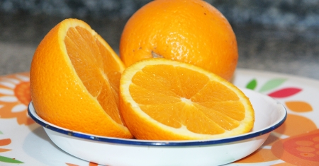 oranges dish photo