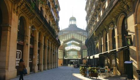 Facade of El Born in Barcelona Редакционное
