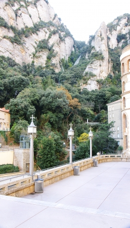 plazas: Square in the Monastery of Montserrat, Barcelona
