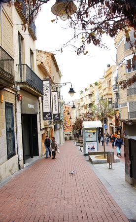 sidewalks: Street Terrassa, Barcelona Editorial