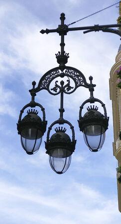 lampposts: Farolas viejas en la calle Ferran, Barcelona