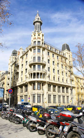 Building on Via Layetana, Barcelona