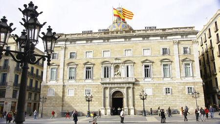 generalitat: Jaume Square with Palace of Generalitat de Catalunya, Barcelona Editorial