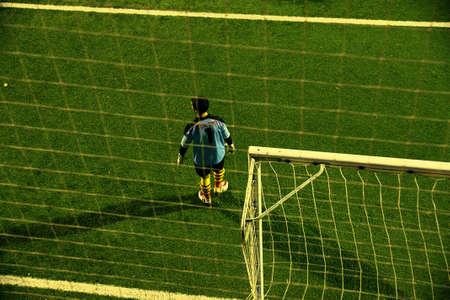 soccer goalkeeper: soccer goalkeeper in goal