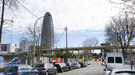 Deconstruction of the square ring road de les Glories Catalanes, Barcelona