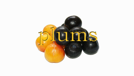 english text: Plums English text