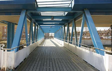 bridge over the railroad tracks, Vic, Barcelona Stock Photo - 26869824