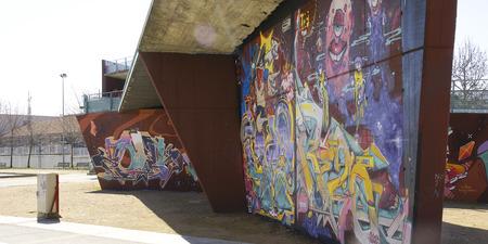 Graffiti on a bridge in Vic, Barcelona