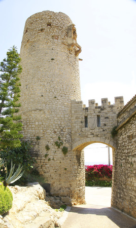 Old tower of Gaudi s Guell wineries, El Garraf, Barcelona