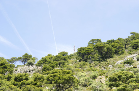 issuer: Antennas in the mountains of the Natural Park of Garraf, Barcelona