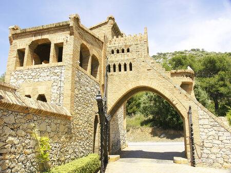 garraf: Architectural Complex of Antonio Gaud�, El Garraf, Barcelona Stock Photo