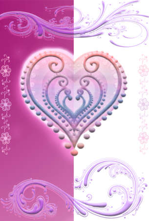 Vector, Heart decorated San Valentine photo
