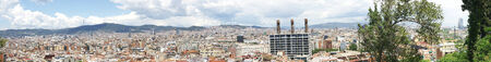 tibidabo: view of Barcelona from Miramar on Montjuic