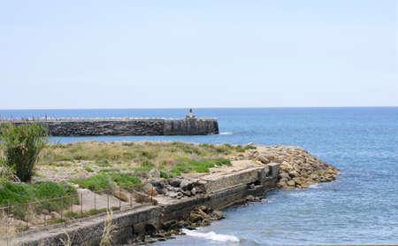 garraf: Breakwater on the coast of El Garraf, Barcelona