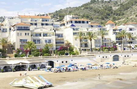 urbanization: Beach in an urbanization of Sitges, Barcelona