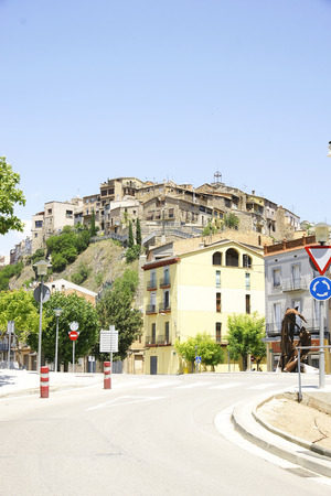 guardrails: Panoramic of Suria, Barcelona Stock Photo